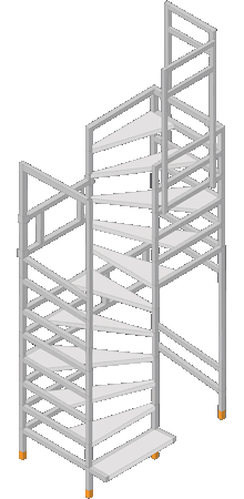 Bautreppe s-form