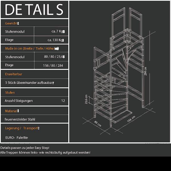 easy step system-rohbau-treppe spezifikationen