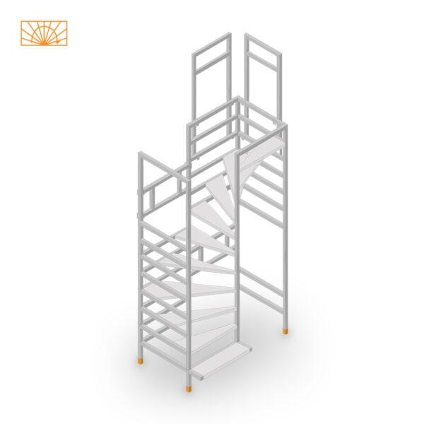 Easy-Step Shop Bautreppe halbgewendelt
