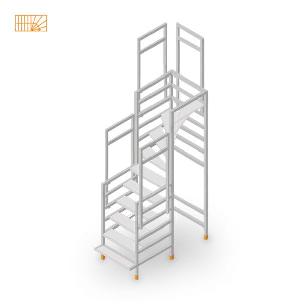 Easy-Step Shop Bautreppe viertelgewendelt-oben