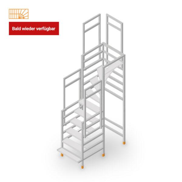 Ausverkauft: Easy-Step Shop Bautreppe viertelgewendelt-oben